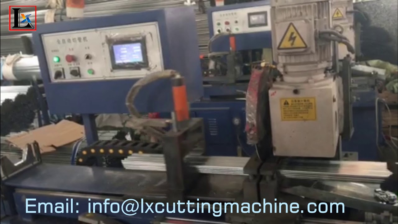 Automatically burr free tube cutting machine for stainless steel pipe