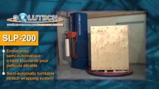 Solutech Packaging Systems SLP 200 stretch wrapper
