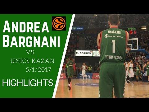 Andrea Bargnani - 8 punti in 8 minuti vs Unics Kazan