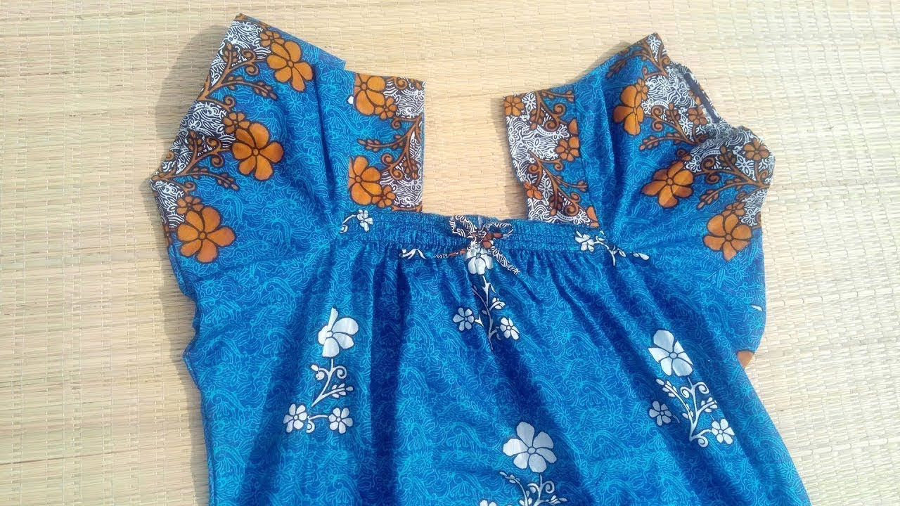 elastic neck design cutting and stitching  9cdfb814d