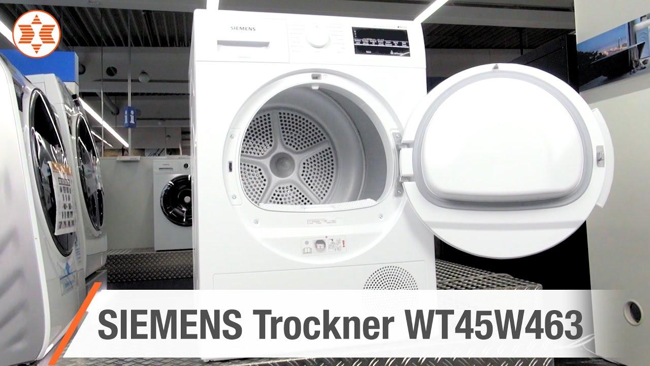 Siemens trockner wt45w463 experten angebot der woche youtube