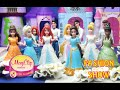 Fashion Show MagiClip Princesses. Ariel, Elsa, Snow White, Rapunzel, Belle, Tiana, Merida