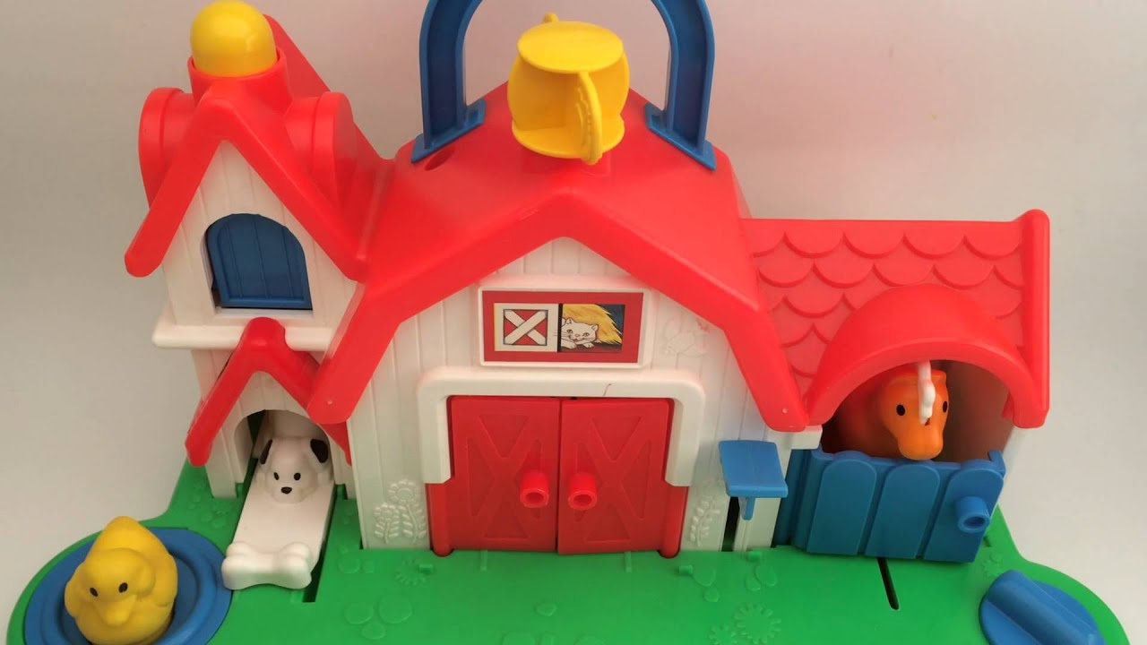 Toy Barn Toys R Us Fisher Price 1987 Farm Barn Animal Sound Activity Center