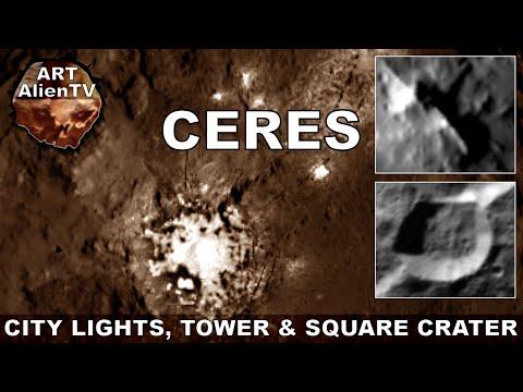 CERES CITY LIGHTS ? TOWER & SQUARE CRATER ? ArtAlienTV - 1080p60