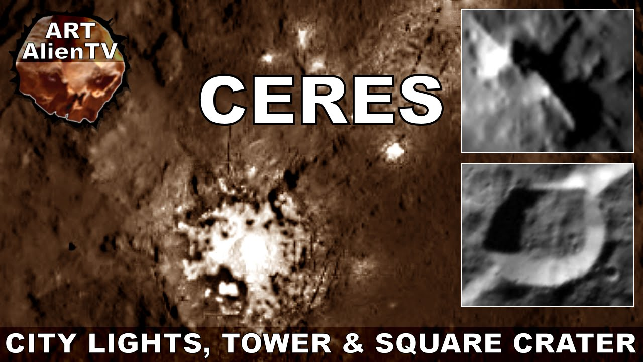 CERES CITY LIGHTS TOWER SQUARE CRATER ArtAlienTV