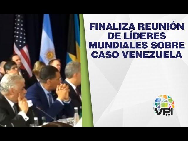 Nueva York - Finaliza reunión de líderes mundiales sobre caso Venezuela  - VPItv