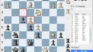 King's Indian Defence : orthodox (E98) : LIVE Blitz (Speed) Game #1367 vs Balm (2156) (ex 2514!)