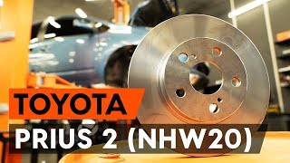 How to change Brake disc set TOYOTA YARIS (NCP15_) - step-by-step video manual