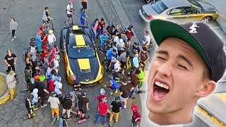 200 FANS JUMPED ONTO GOLD CORVETTE *INSANITY* (FunkFamTour Ep.4)