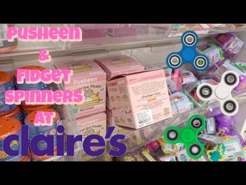 SHOPPING SPREE AT CLAIRES! | PUSHEEN AND FIDGET SPINNERS! | VLOG