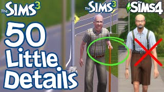 The Sims 3: 50 FUN LITTLE DETAILS not in Sims 2 \u0026 Sims 4