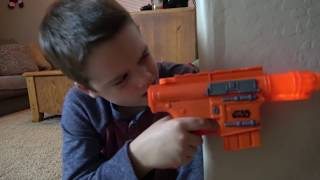 "Nerf Gun War! Ethan Vs. Cole! Extreme Toys TV Battle. Round One ""Star Wars Nerf Edition"""