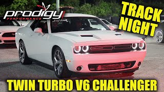 Twin Turbo V6 Dodge Challenger At The Track!