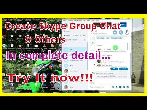 How To Create Skype Group Chat,Add Members,Remove And Leave
