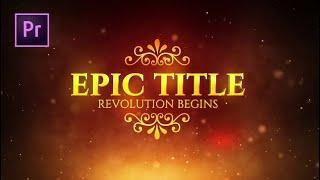 Epic Title Motion Graphics Templates