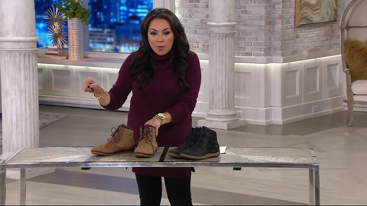 41d8fb726975 Merrell Leather Lace-up Ankle Boots - Ashland Vee Ankle on QVC - YouTube