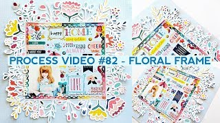 Process Video #82 - Backing a Floral Frame Cut File