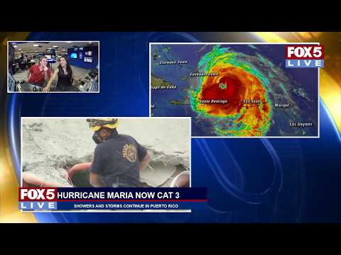 FOX 5 LIVE: Category 3 Maria passes over Puerto Rico; Trudeau makes remarks at UN General Assembly