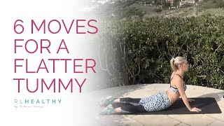6 Moves for a Flatter Tummy | Rebecca Louise