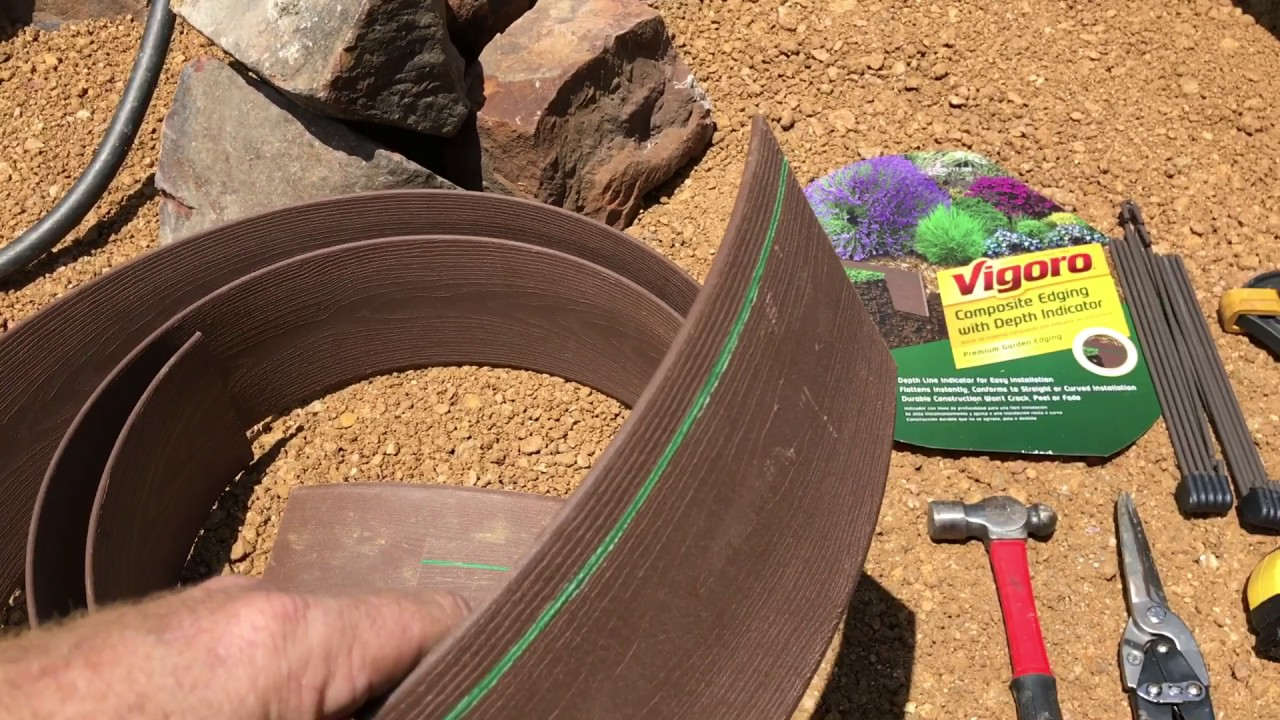 Part 1 2 Vigoro Composite Landscape Edging Review Premium Brown Border For Flower Beds