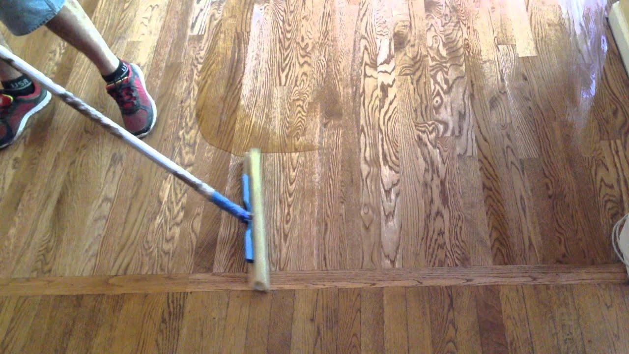 How to Refinish Hardwood Floors  Part 3 Apply