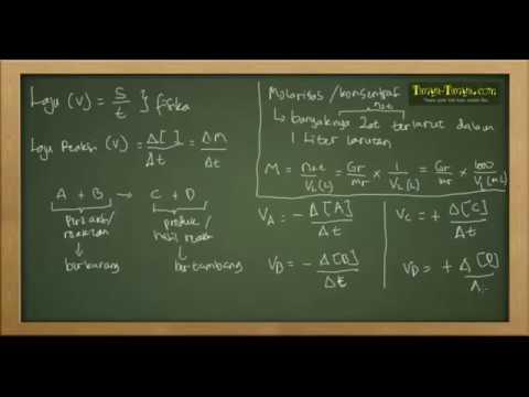 Belajar Kimia : Materi dan Contoh Laju Reaksi Part 1