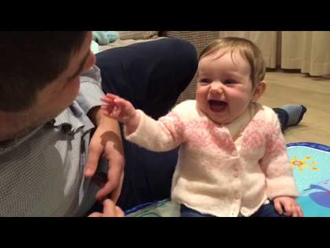 Hilarious Laughing Baby Girl