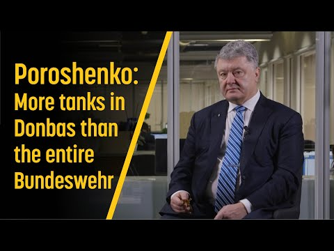 Poroshenko: More tanks in Donbas than the entire Bundeswehr