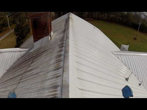 Metal Roof Cleaning Charleston, SC Before And After