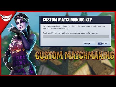 how to use custom matchmaking in fortnite ios