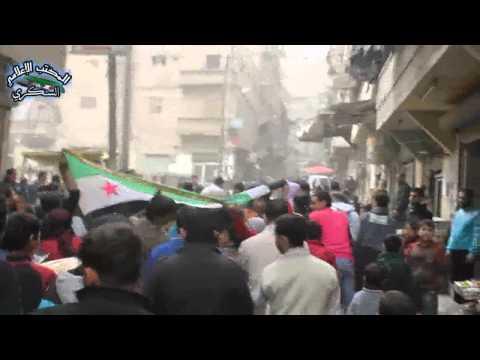 حلب السكري 22 3 2013 في جمعة أسلحتكم الكيميائية لن توقف مد الحرية من جامع ويس القرني