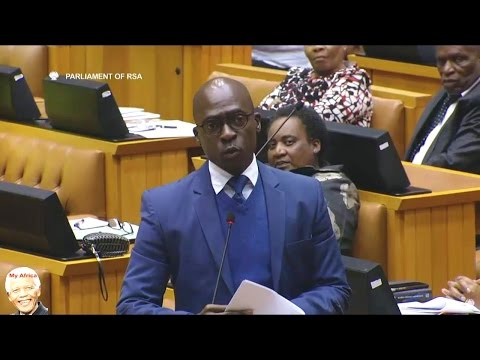 Drama In Parliament - DA vs Malusi Gigaba On His USA Roadshow