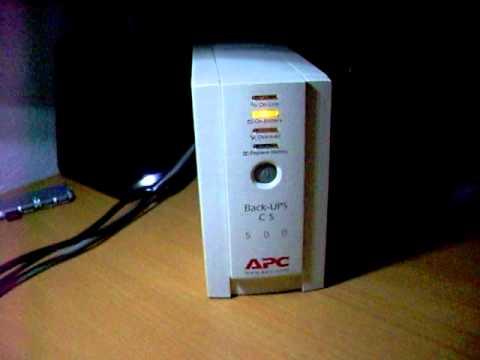 Arranque y funcionamiento de SAI (UPS) APC CS500