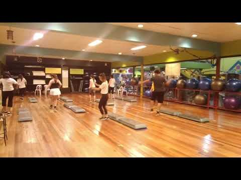 STEP AEROBICS CLASS @ HOLIDAY GYM & SPA CEBU