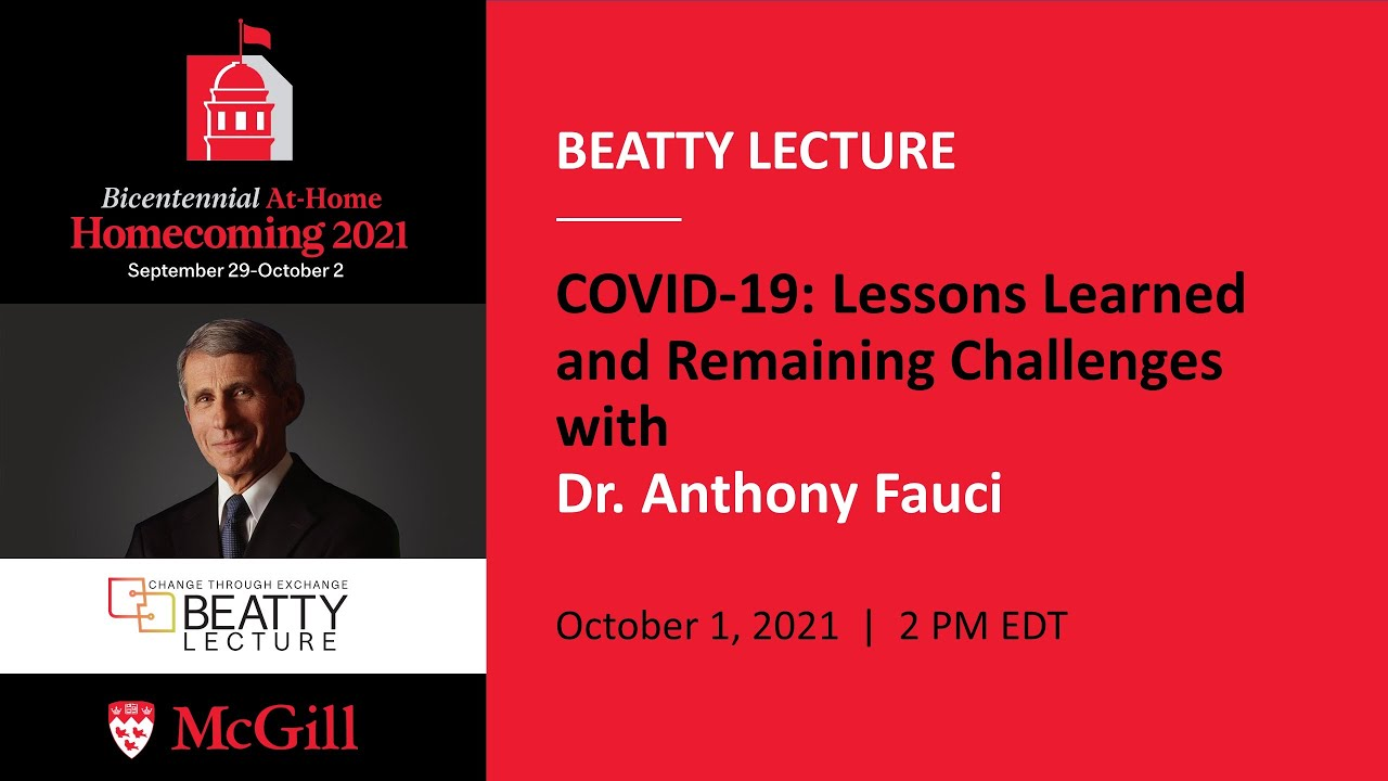 2021 Beatty Lecture - Dr. Anthony Fauci