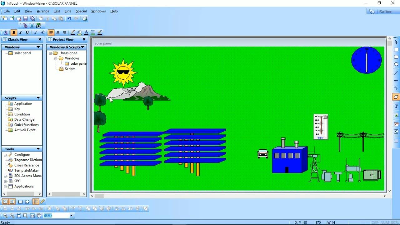Scada Electrical Energy : Solar power plant automation scada advanced tutorial