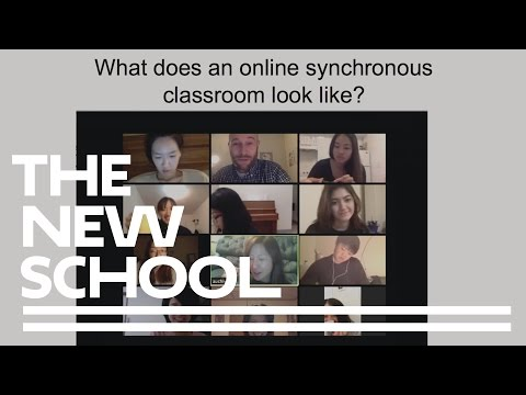 Teaching and Learning Languages Online at The New School: Synchronous and Asynchronous