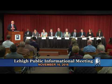 Lehigh Public Informational Meeting - November 16, 2016