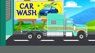 american truck | kids tv channel car wash