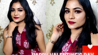 ❤️Valentine's day Makeup Look 2021❤️ ||  Extreme makeover with varnika || without any Eyeshadoo🎀