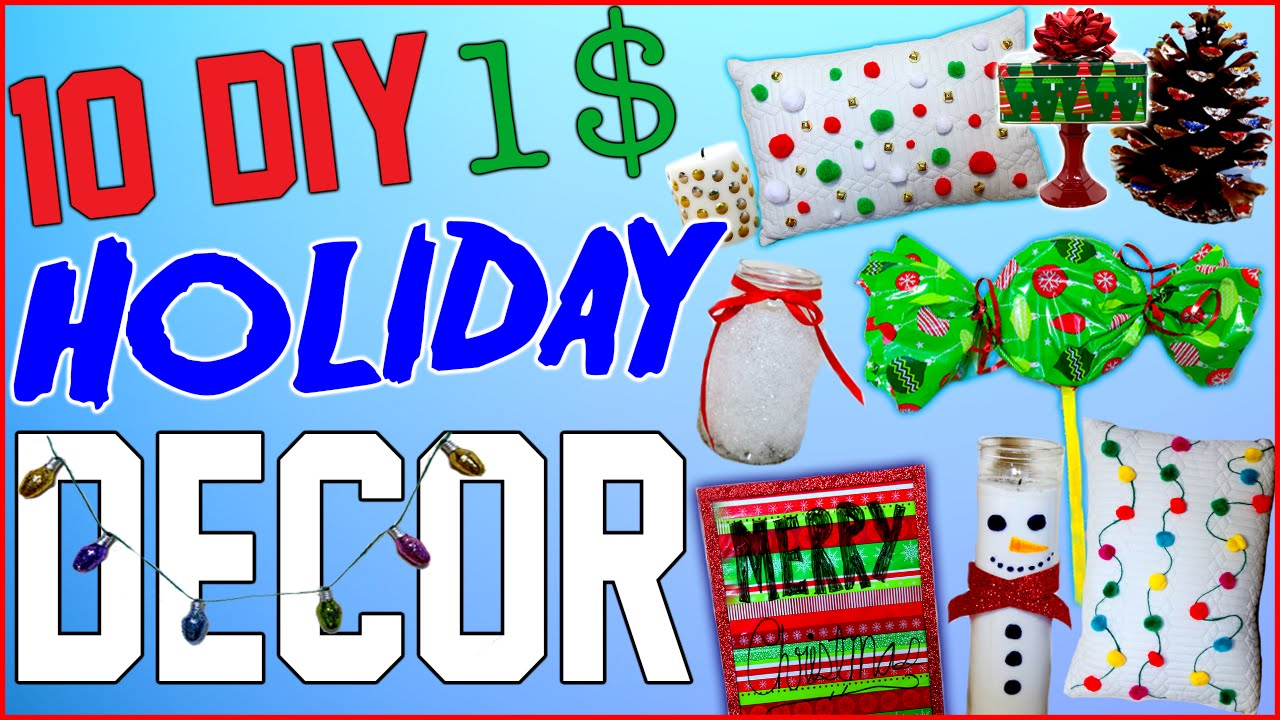 10 DIY $1 Holiday Room Decor Ideas!