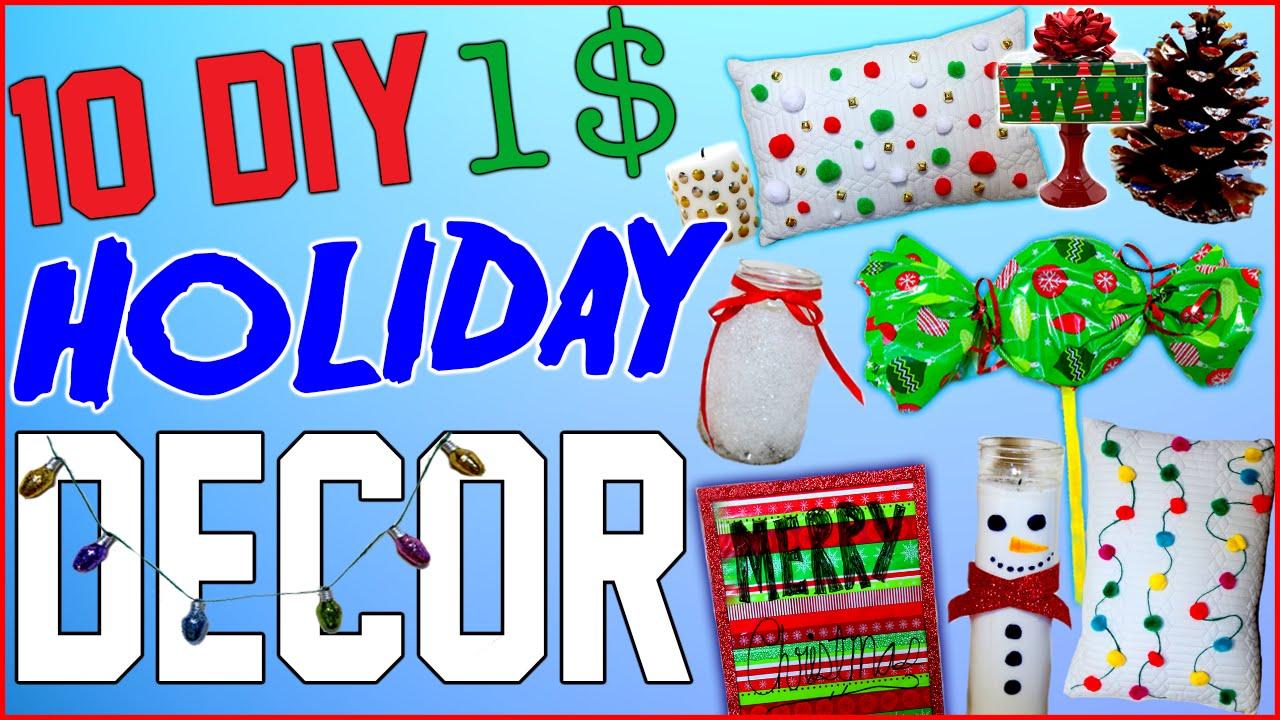 10 DIY $1 Holiday Room Decor Ideas!