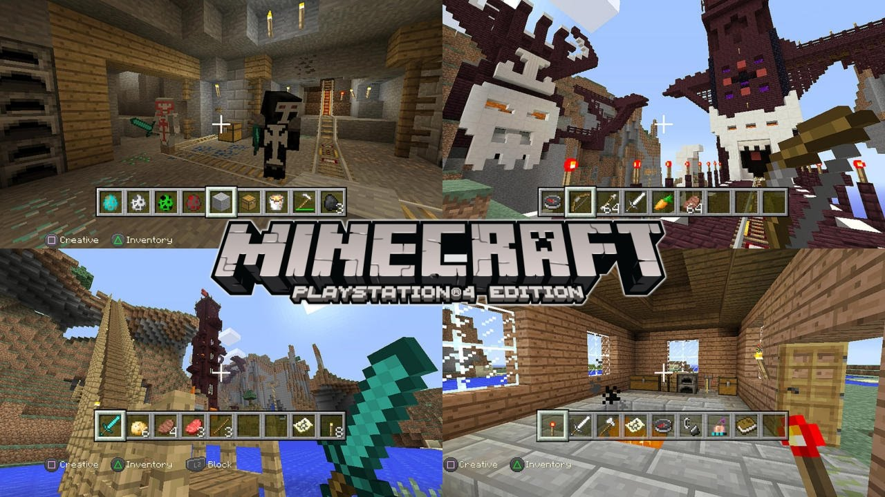 Minecraft PlayStation 4 Review: Vita Remote Play, Split Screen