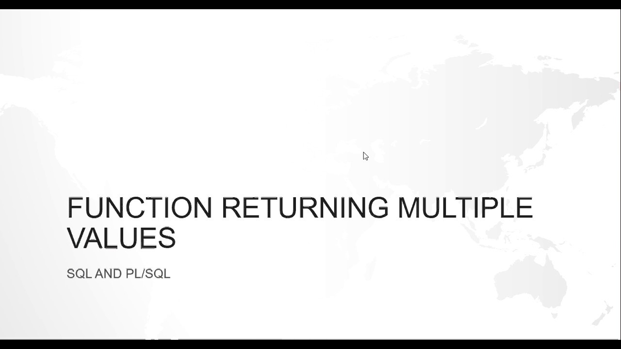 How to return multiple values from a function in oracle pl/sql ? (without  using out parameter)