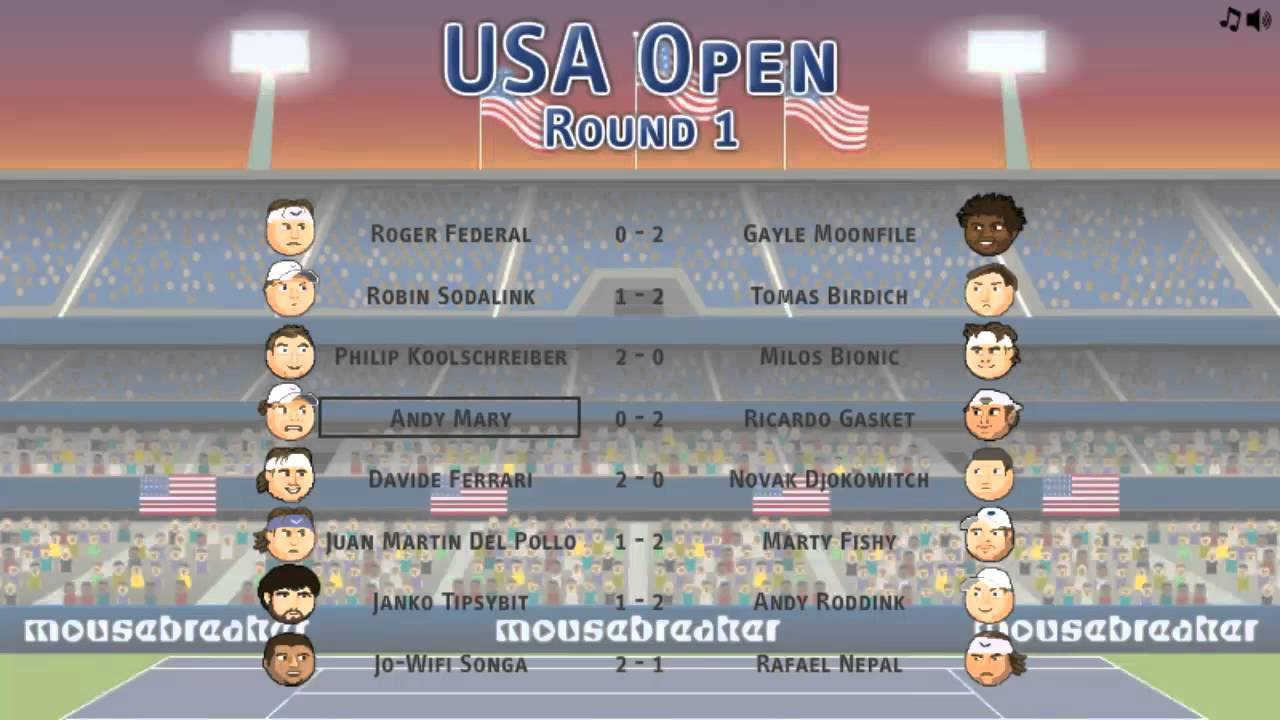 81a651497ac13 Sports Heads Tennis Open - YouTube