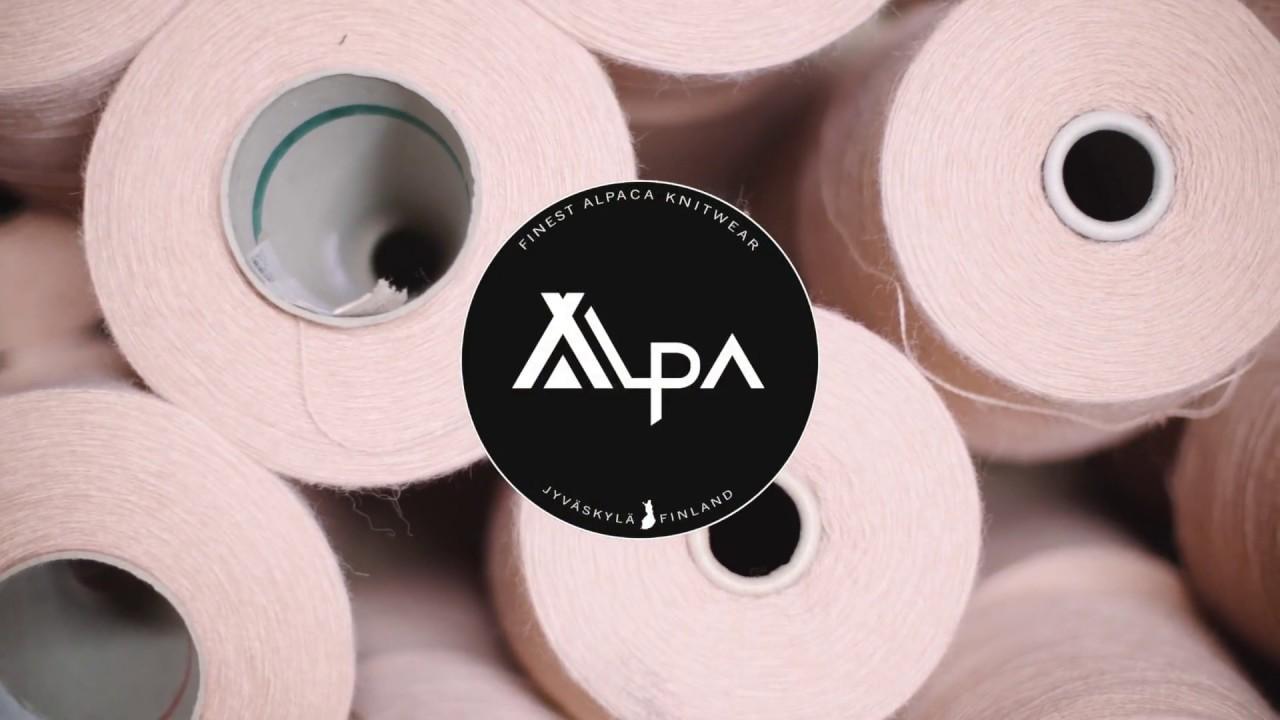 Så här tillverkas stickade kvalitetsplagg Alpa