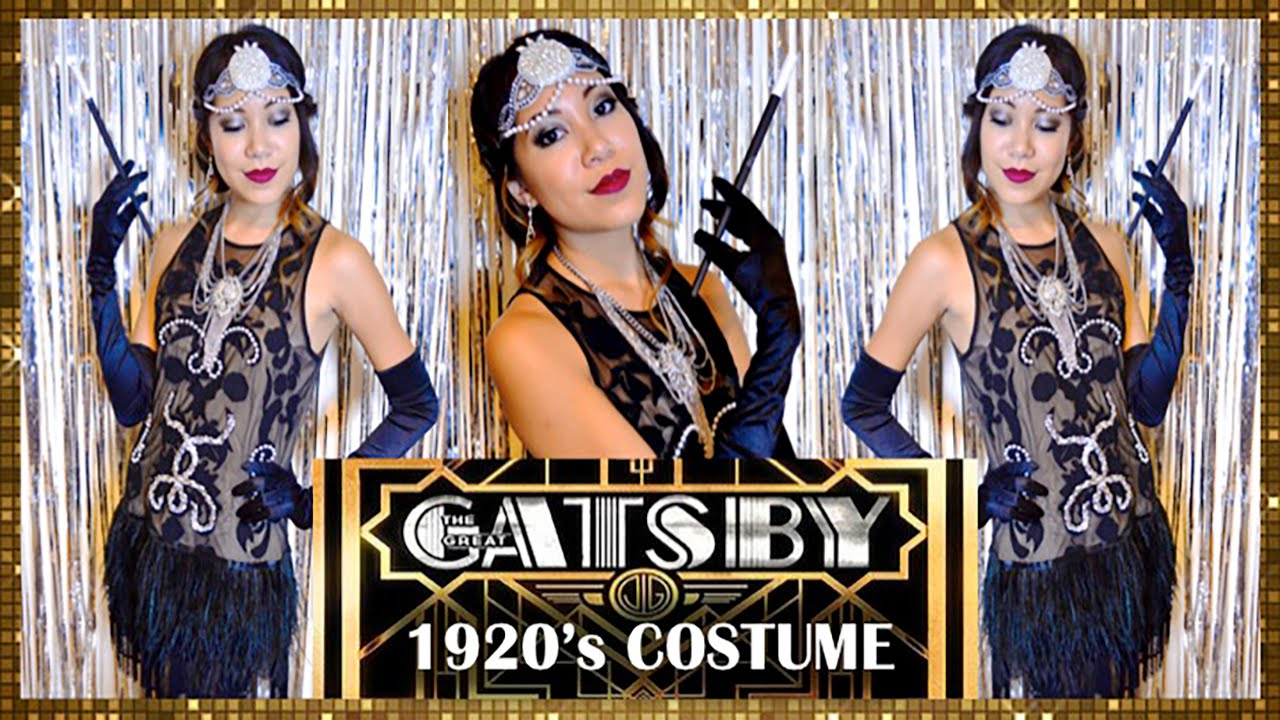 03d6bbaf1451 FLAPPER DRESS! 1920's GREAT GATSBY COSTUME - YouTube