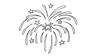 How to Draw a Firework / Как нарисовать салют
