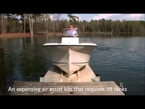 Glide N Ride Video Boat Lift Jet Dock Drive On