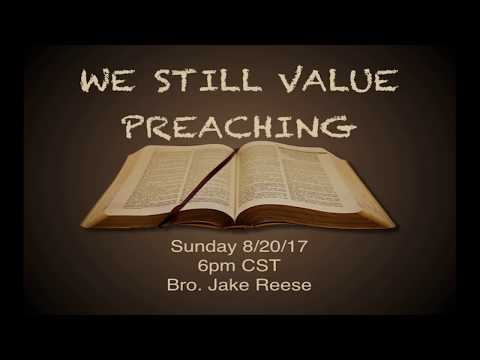8/20/17 Sunday PM - Bro. Jake Reese